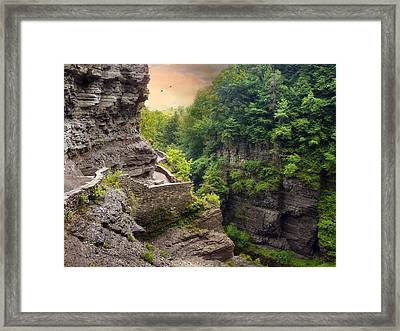 Treman Trail Framed Print
