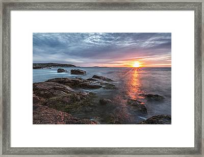 Trembling On The Shore Framed Print by Jon Glaser