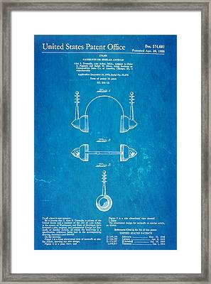 Tremulis Earmuffs Patent Art 1955 Blueprint Framed Print by Ian Monk