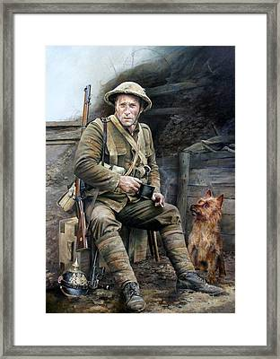 Trench Pals Framed Print by Chris Collingwood