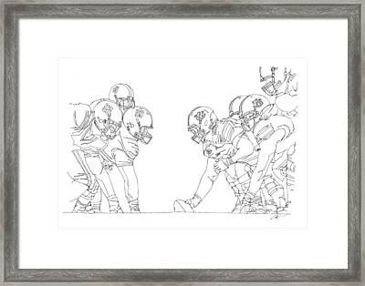 Trench Warfare Framed Print by Calvin Durham