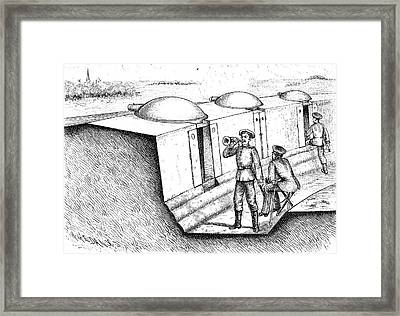 Trenches And Gruson Turrets Framed Print