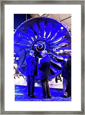 Trent 1000 Jet Engine. Framed Print by Mark Williamson