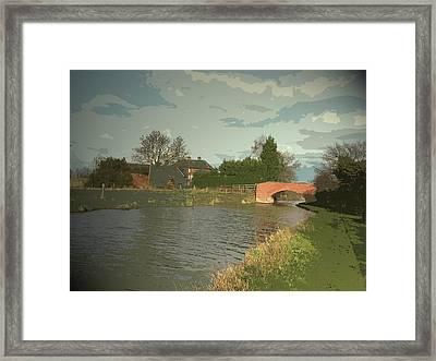 Trent And Mersey Canal At Weston Grange, Bridge Number 7 Framed Print by Litz Collection