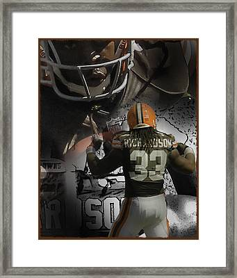 Trent Richardson Guns Framed Print