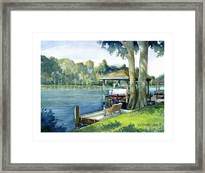 Trent River Boathouse Framed Print