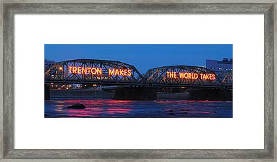 Trenton Makes Panoramic Framed Print