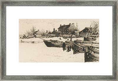 Trenton Winter Framed Print by Stephen Parrish