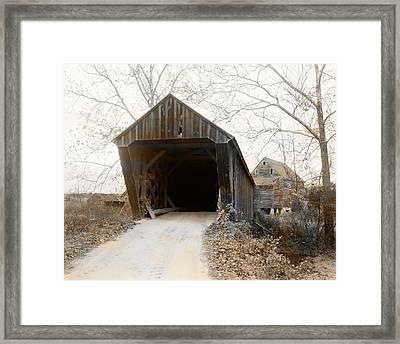 Trent's Mills Covered Bridge Buckingham County Virginia Framed Print by Bill Cannon