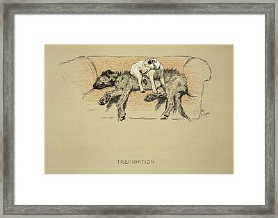 Trepidation, 1930, 1st Edition Framed Print by Cecil Charles Windsor Aldin