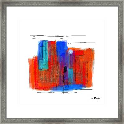 Trepidation Framed Print by D Perry