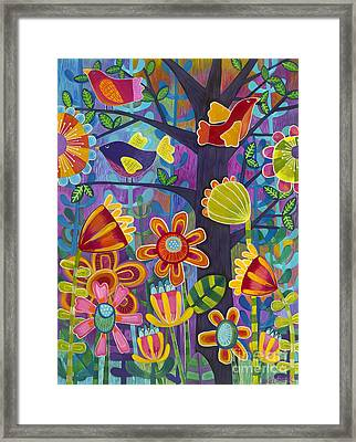 Framed Print featuring the painting Tres Amigos by Carla Bank