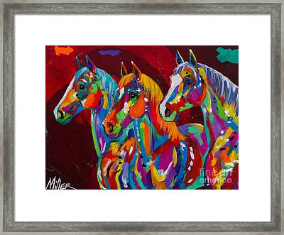 Tres Bellezas Framed Print by Tracy Miller