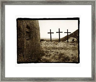 Tres Cruces New Mexico Framed Print