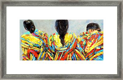 Tres Mujers Framed Print by Marilyn Hurst
