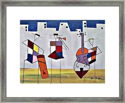 Tres Musicians Framed Print