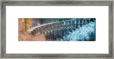 Trestle Rebuild Framed Print