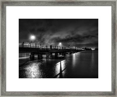 Trestle Trail At Night Framed Print by Thomas Young
