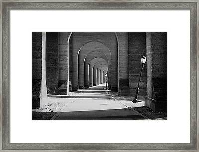 Framed Print featuring the photograph Trestle Wards Island by Dave Beckerman