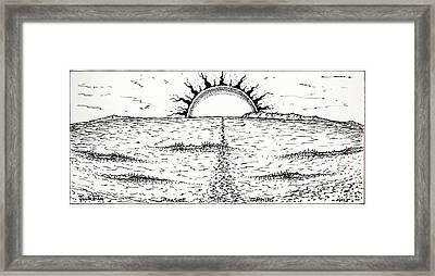Trestles Framed Print