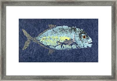 Gyotaku Trevally Framed Print by Captain Warren Sellers