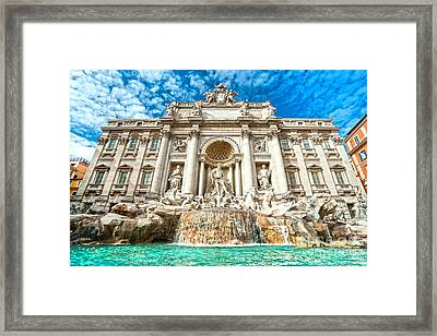 Trevi Fountain - Rome Framed Print by Luciano Mortula
