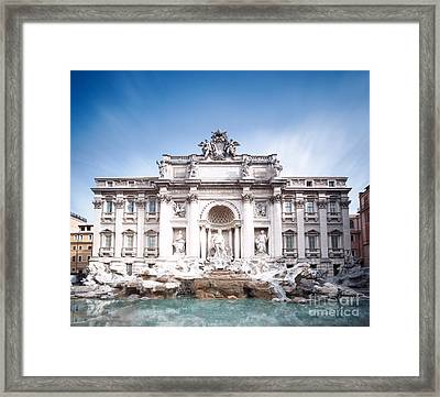 Trevi Fountain In Rome Framed Print by Matteo Colombo