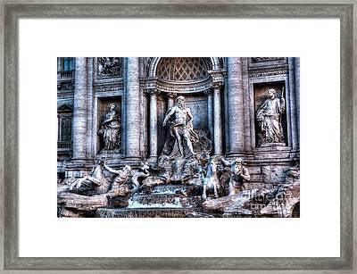 Framed Print featuring the photograph Trevi Fountain by Joe  Ng