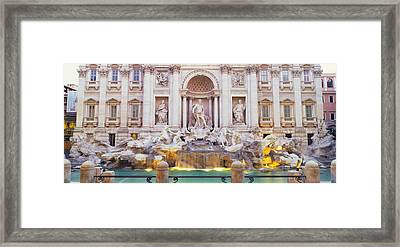 Trevi Fountain Rome Italy Framed Print by Panoramic Images
