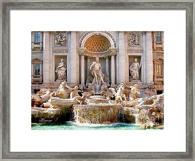 3 Coins Trevi. Rome Framed Print by Jennie Breeze