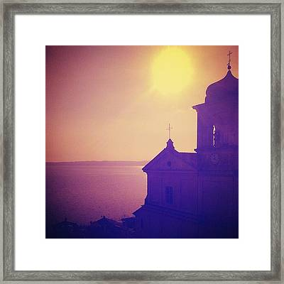 Trevignano's Lake Framed Print