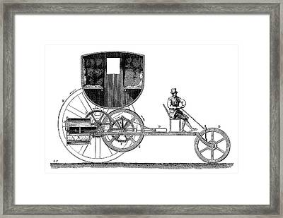 Trevithick Steam Car Framed Print by Science Photo Library