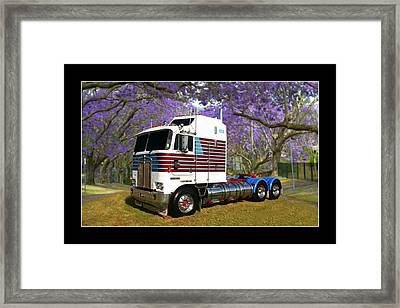 Framed Print featuring the photograph Trev's Kenworth by Keith Hawley