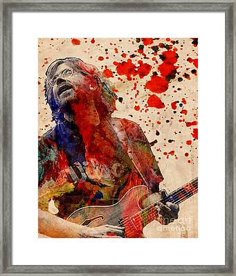 Trey Anastasio - Phish  Framed Print by Ryan Rock Artist