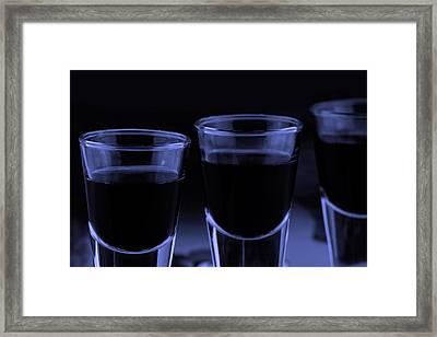 Trhee Shoot Glasses Framed Print by Tommytechno Sweden