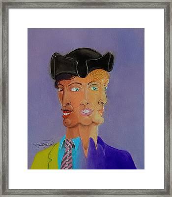 Tri-face Framed Print by R Neville Johnston