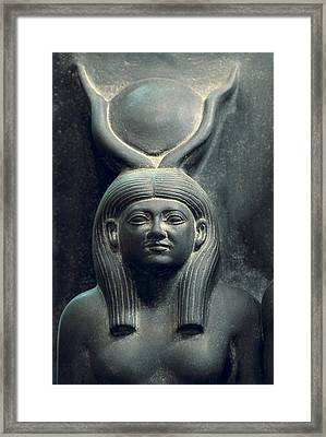 Triad Of Menkaure Mycerinus Framed Print