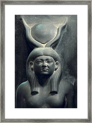 Triad Of Menkaure Mycerinus Framed Print by Everett