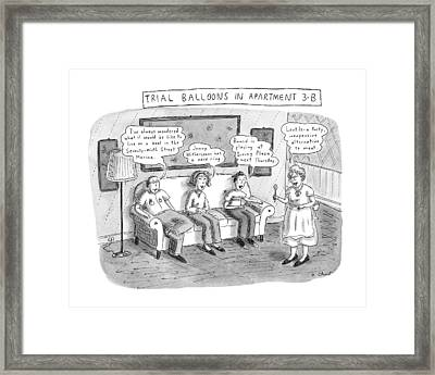 Trial Balloons In Apartment 3-b Framed Print