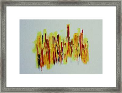 Trial By Fire Framed Print by Tom Atkins