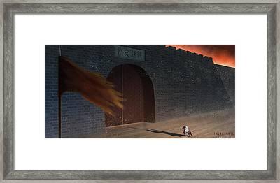 Trial Gate Framed Print by Hiroshi Shih