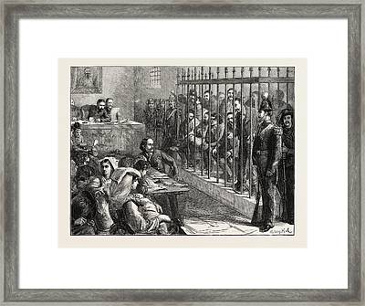 Trial Of A Band Of Italian Brigands At Aquila Framed Print