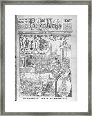 Trial Of Oscar Wilde Framed Print