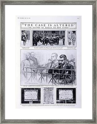 Trial Of Sir Roger Casement Framed Print