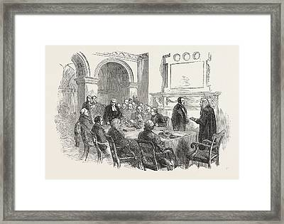 Trial Of The Pyx At The Office Of The Comptroller-general Framed Print by English School