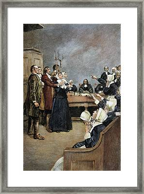 Trial Of Two Witches,salem Framed Print