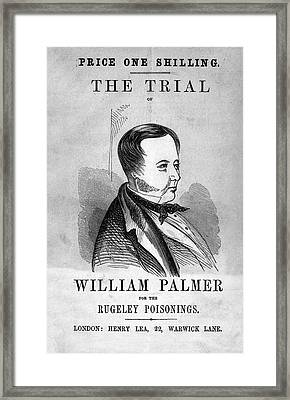 Trial Of William Palmer Framed Print by National Library Of Medicine