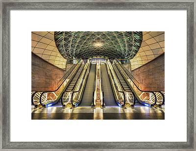 Triangeln Station Escalators Framed Print