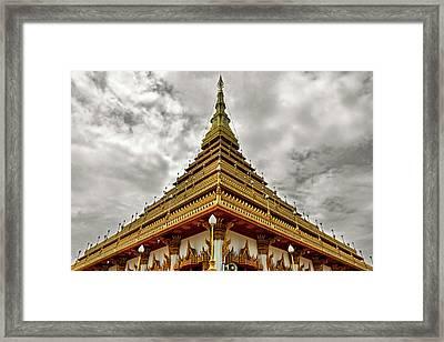 Triangle Pagoda Framed Print by Suradej Chuephanich