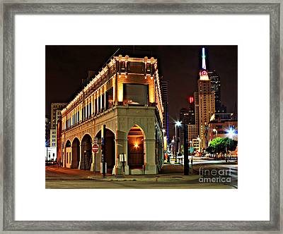 Triangle Point Building - Dallas Framed Print